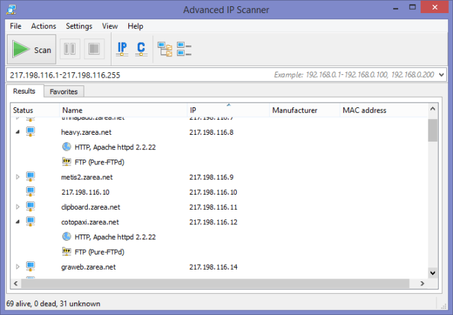 Advanced IP Scanner - www.advanced-ip-scanner.com - pro Windows