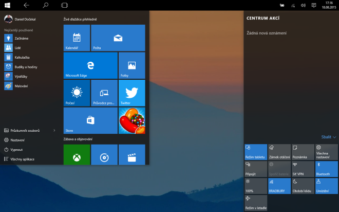 Jak dostat Windows 10 na tablet s Windows 8.1