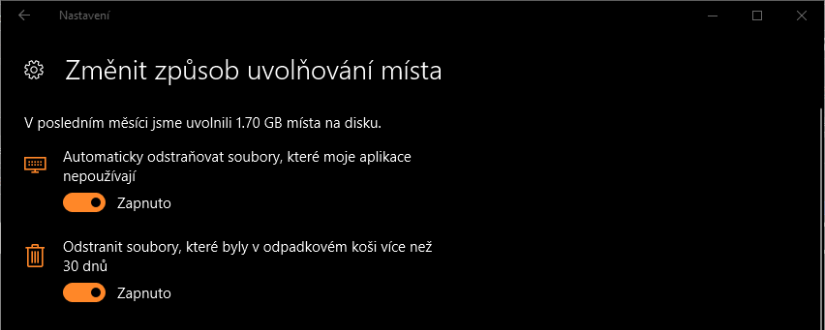 Co je to Windows Storage Sense? Windows 10 od Creators Update umí uklízet disk, musíte si to ale zapnout