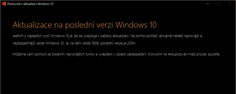 Jak stáhnout Windows 10 Version 2004 (Windows 10 May 2020 Update)